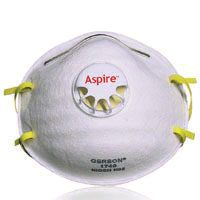 JACKSON SAFETY Gerson 64240 Disposable Particulate Respirator, Universal Mask, White