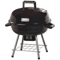 Omaha Kettle Tabletop Charcoal Grill With Handle, 138 Sq-In 14-1/2 In D X 18- 1/2 In H, Steel
