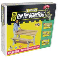 TABLE BENCH FLIP TOP SAND