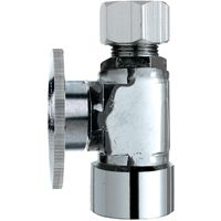 Plumb Pak PP53-1PCLF Shut-Off Valve, 1/2 x 1/2 in FIP x Compression, Brass, Chrome