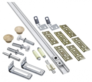National Hardware N343-749 Folding Door Hardware Set, Steel, For Bi-Fold Doors