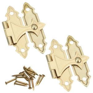 National Hardware V1840 Series N211-946 Decorative Door Catch, Brass, Surface Mounting