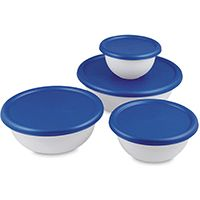 BOWL SET WHT W/BLUE ATOLL 8 PC