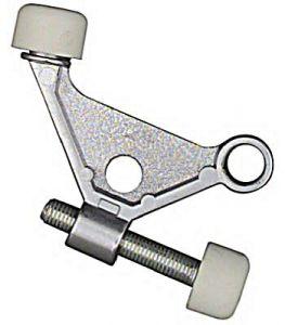 National Hardware N274-084 Hinge-Pin Door Stop, 1-7/8 in Projection, Zinc, Satin Chrome