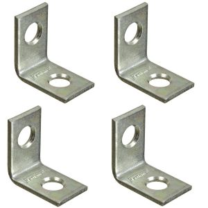 National Hardware V115 Series N275-628 Corner Brace, 0.07 in, Steel, Zinc