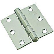 National Hardware N276-964 Door Hinge, 15 lb Weight Capacity, Stainless Steel