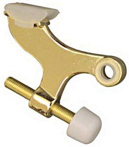 National Hardware N279-695 Hinge-Pin Door Stop, Zinc, Brass