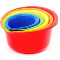 BOWL MIXING PLASTIC SET 5PC