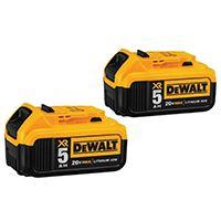 DeWALT DCB205-2 Rechargeable Battery Pack, 20 V, 5 Ah