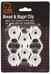 CHEF CRAFT 20840 Bread and Bagel Clip Set, 6pcs