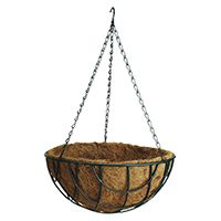 BASKET HANGING PLANTER 14IN