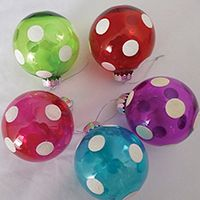 ORNAMENT PAINTED BALL 83MM