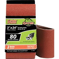3X24IN 80GRIT ALUM OX BELT 2PK