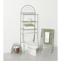 Zenna Home Bath-In-A-Box BBN25 Bathroom Shelving Kit, Pearl Nickel