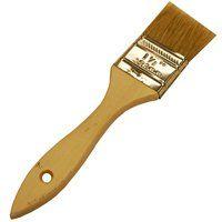 WOOSTER F5117-1 Paint Brush, 1-11/16 in L Bristle, Plain-Grip Handle, Steel Ferrule