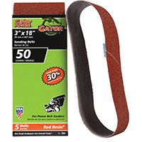 3X18IN 50GRIT ALUM OX BELT 5PK