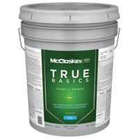 McCloskey 14552 Exterior House Paint, Tint Base, Flat, 5 gal Pail