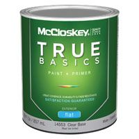 McCloskey 14553 Exterior House Paint, Clear, Flat, 1 qt