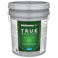 McCloskey 14553 Exterior House Paint, Clear, Flat, 5 gal Pail