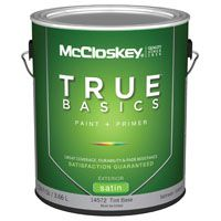 McCloskey 14572 Exterior House Paint, Tint Base, Satin, 1 gal
