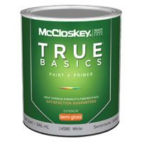 McCloskey 14580 Exterior House Paint, White, Semi-Gloss, 1 qt