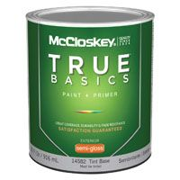 McCloskey 14582 Exterior House Paint, Tint Base, Semi-Gloss, 1 qt