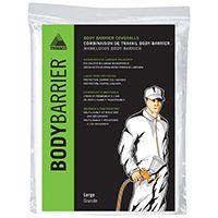 Trimaco 09953 Protective Coverall, L, Zipper Closure, Polyolefin, White