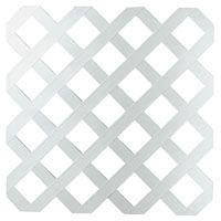 LATTICE TRADITIONL WHITE 4X8FT