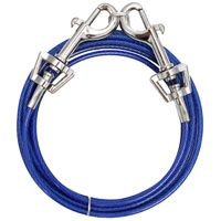 Boss Pet PDQ Q231000099 Pet Tie-Out Belt with Twin Swivel Snap, 15 ft L Belt/Cable