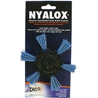 "4"" BLUE FINE NYALOX FLAP BRUSH"