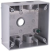 BOX OUTLET ALUM 2G 31CU IN GRY