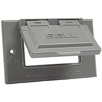 1G GRAY GFCI OUTLET COVER