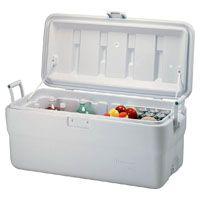 Rubbermaid FG198200TRWHT Cooler, 102 qt Cooler, White