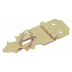 National Hardware V1824 Series N211-466 Decorative Hasp, 1-7/8 in L, 1/8 in Dia Shackle, Brass