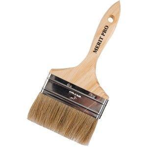 "4"" White Bristle Thick Brush"