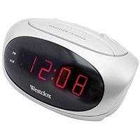 CLOCK ALARM LED WHITE .6IN