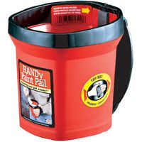 PAIL PAINT HANDY RED 5X5X6IN