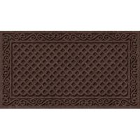 Apache Mills Textures AP883-1403F Door Mat, Iron Lattice Surface Pattern, 30 in L, 18 in W, Walnut