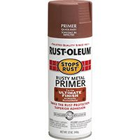 RUST-OLEUM STOPS RUST 7769830 Primer Spray, Flat/Matte, Rusty Metal, 12 oz