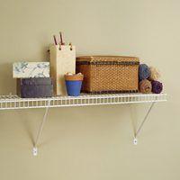 ClosetMaid 1061 Shelf Kit, 72 in L, 12 in W, Steel, White