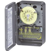 Intermatic T103 Heavy-Duty Mechanical Time Switch, 40 A, 120 V, 24 hr Time Setting, Gray
