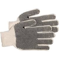 GLOVE WHT KNIT W/PVC DOTS RV L