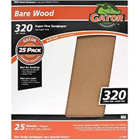 SANDPAPER AL OX 9X11IN 320GRIT