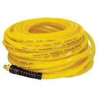 Bostitch PRO-1450 Premium Air Hose, 1/4 in OD, MNPT, Polyurethane, Yellow
