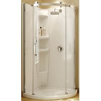 WALL SHOWER ACRYLC RND 2PC WHT