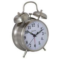 CLOCK ALARM QUARTZ BELL 4.5IN