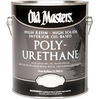 Old Masters 49501 Polyurethane Paint, Clear, Semi-Gloss, 1 gal Can