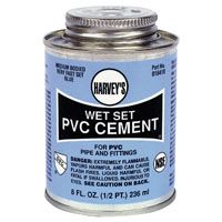 PVC CEMENT WET SET BLUE 8OZ