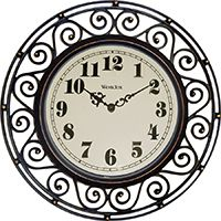 CLOCK WALL WROUGHT IRON STYLE
