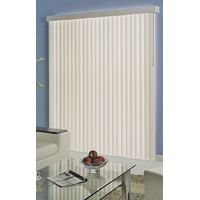 Simple Spaces Light Filtering Vertical Vinyl Blind, 84 In L X 78 In W, White